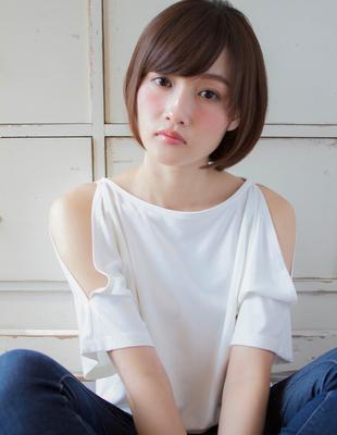 耳掛けショート風ボブ(TKー65)