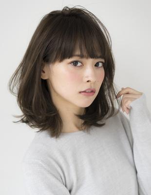 桐谷美玲さん風・大人女性のミディアム(SE210)