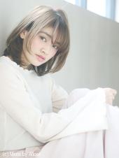 ひし形フォルムで小顔ミディ〜ナチュラルスタイル〜