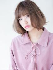 【担当 添田】切りっぱなしのピンクグレージュボブs-366
