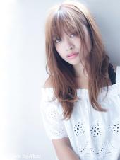 【担当 添田】前髪が大事!小顔なレイヤーセミディ透明感カラーs-418
