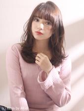 ピンクアッシュ アンニュイほつれラフパーマ
