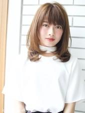 内巻き毛先デジタルパーマストレートA648
