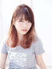 グラデーションカラーのカジュアルピンクセミディ【N-591】