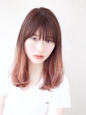ピンクグレージュのグラデーションカラー【N-595】