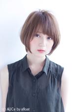 ラベンダアッシュの小顔ショート【N-608】