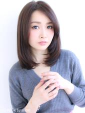 暗髪カラーの大人ミディアム【H-415】