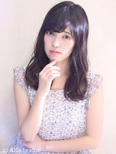 暗髪でも抜け感グレージュ♡フェミニンゆるパーマ M-6