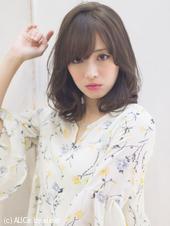 透明感グレージュカラー♡ゆるふわ小顔デジタルパーマ M-51