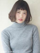 ふんわり大きめワンカール ひし形シルエット♡M-69