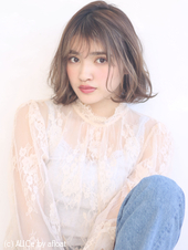 ゆるふわエアリーミックスボブ♡外国人風カラー M−94