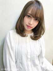 シースルーバング♡小顔ミディ ゆるふわパーマ M-119