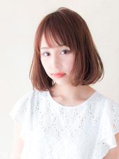 透明感バツグンのフェザーボブ【ピンクグレージュ】U-41