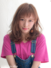 耳かけラフセミディ【ピンクグレージュ】U-45