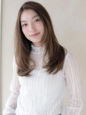 サラ艶ワンカールストレート【シナモングレージュ】U-50