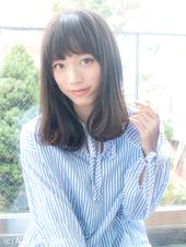 暗髪重めロブ【アッシュグレージュ】U-114