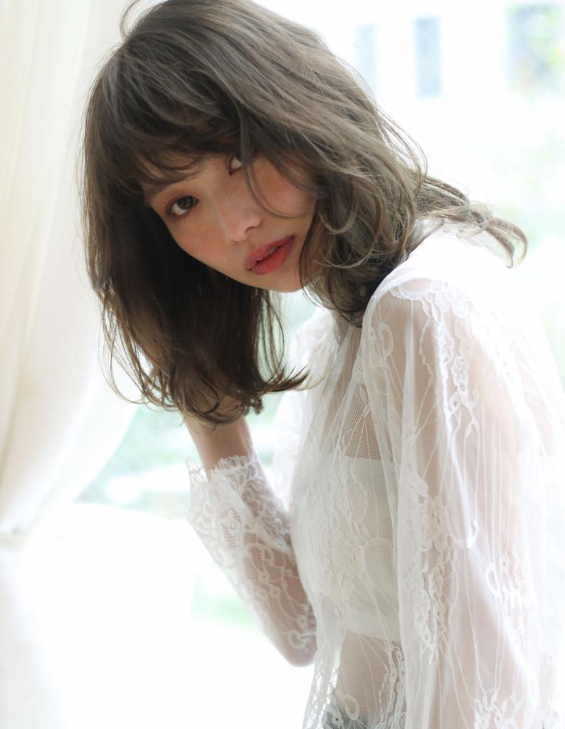 【Violet】フリンジシースルー×半熟パーマ×カーキグレージュ