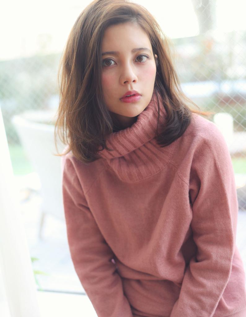 【Violet】ミルクティーロークロマほつれウェーブで大人かわいい