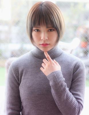 【Violet】小顔かわいいナチュラルショートボブ×グレージュ