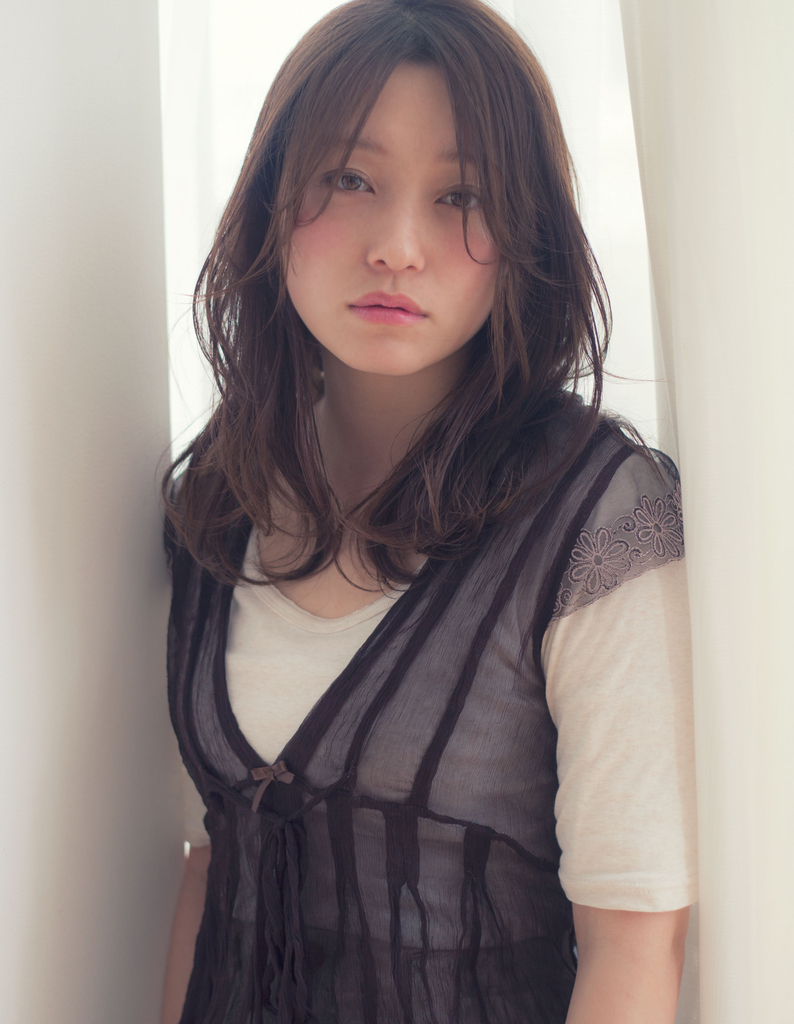 【Violet】大人かわいいセミウェットアッシュグレージュ