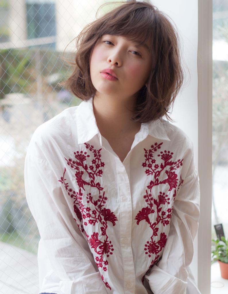 【Violet】伸ばしかけ大人かわいいふわふわラフミディ透けカラー