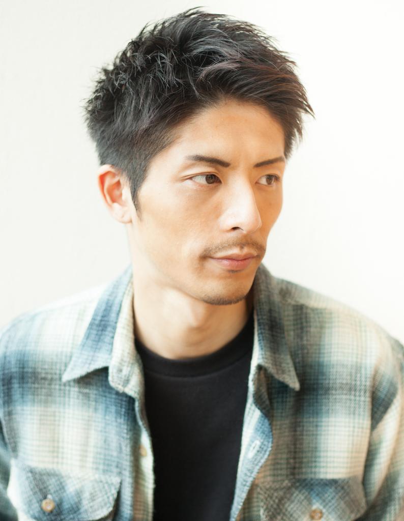 30代メンズ黒髪ショート◎ビジネスマンな髪型(NY,62)