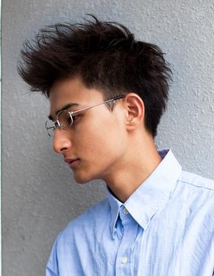 メンズビジネスショート◎メガネスーツが似合う髪型