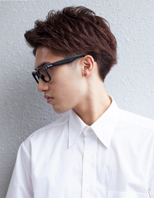 メンズビジネス30代メガネが似合うショート◎髪型(NY-110)
