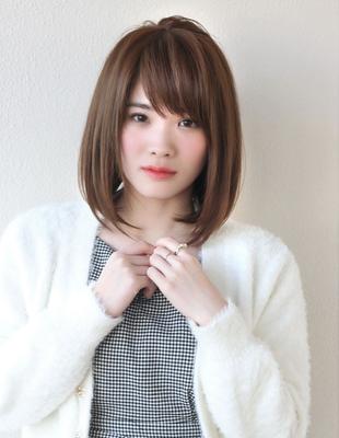 小顔シャープシルエットのストレートヘア(TO-02)