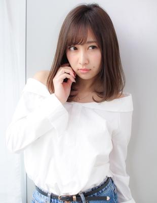 ナチュラルな内巻き前髪パーマ(SY-384)