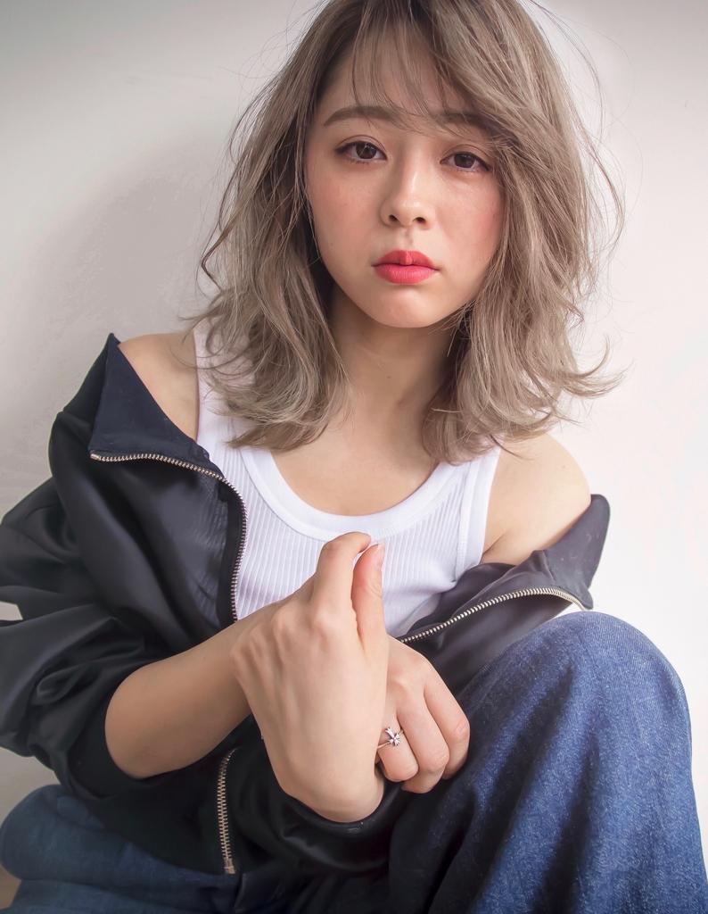 【Violet栄店】外国人風カラー☆セピアグレージュ♪