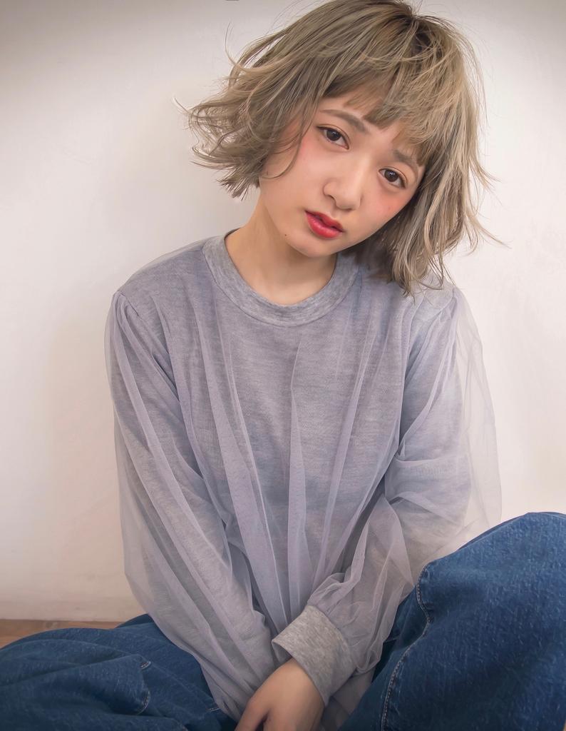 【Violet栄店】光を浴びて表情が変わる☆ブルーアッシュ