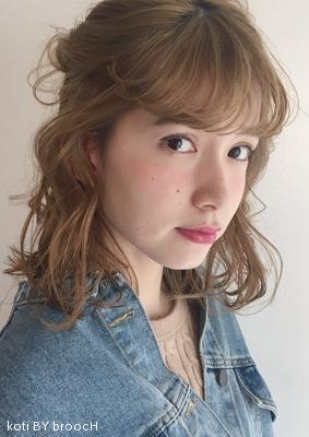 ハニーベージュのロブスタイル♡