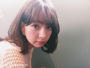 ☆アッシュグレージュカラーのおフェロなセミディヘア☆