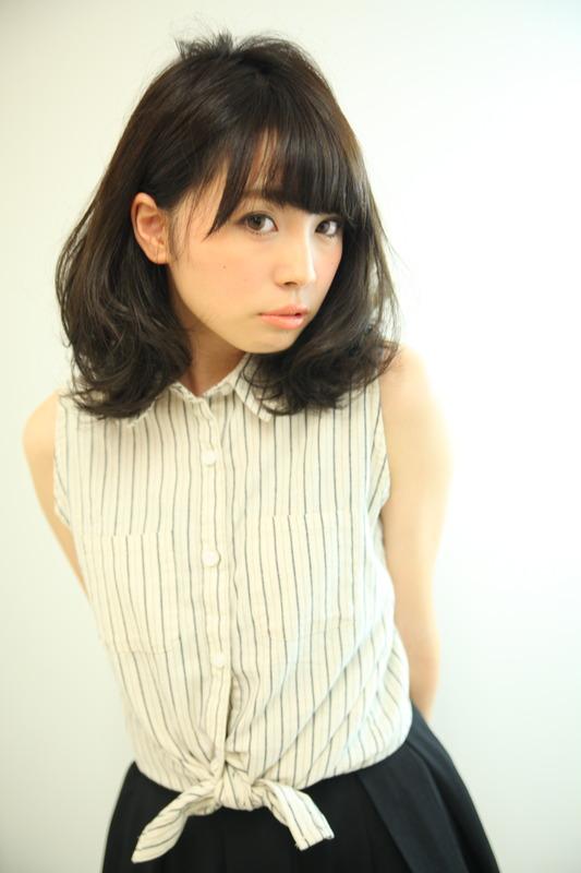 キュート☆暗髪のミディアムボブ♪
